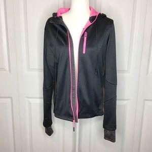 Pink and Gray Mondetta Zip Up Jacket